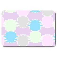 Pineapple Puffle Blue Pink Green Purple Large Doormat  by Alisyart