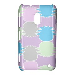 Pineapple Puffle Blue Pink Green Purple Nokia Lumia 620 by Alisyart