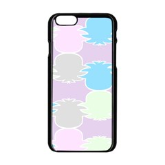 Pineapple Puffle Blue Pink Green Purple Apple Iphone 6/6s Black Enamel Case by Alisyart