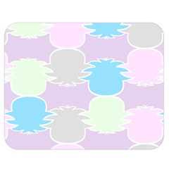 Pineapple Puffle Blue Pink Green Purple Double Sided Flano Blanket (medium)  by Alisyart