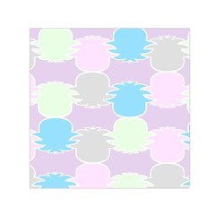 Pineapple Puffle Blue Pink Green Purple Small Satin Scarf (square) by Alisyart