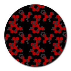 Red Digital Camo Wallpaper Red Camouflage Round Mousepads by Alisyart