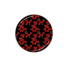 Red Digital Camo Wallpaper Red Camouflage Hat Clip Ball Marker (10 Pack) by Alisyart