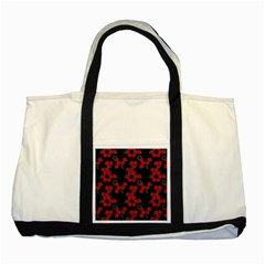 Red Digital Camo Wallpaper Red Camouflage Two Tone Tote Bag by Alisyart