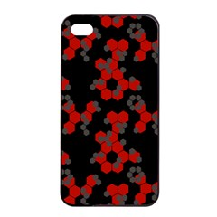 Red Digital Camo Wallpaper Red Camouflage Apple Iphone 4/4s Seamless Case (black) by Alisyart