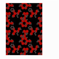 Red Digital Camo Wallpaper Red Camouflage Large Garden Flag (two Sides) by Alisyart