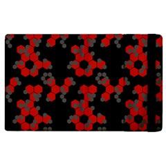 Red Digital Camo Wallpaper Red Camouflage Apple Ipad 2 Flip Case by Alisyart