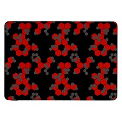 Red Digital Camo Wallpaper Red Camouflage Samsung Galaxy Tab 8 9  P7300 Flip Case by Alisyart