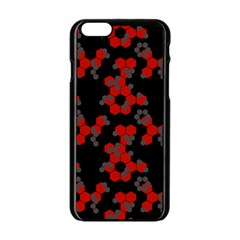Red Digital Camo Wallpaper Red Camouflage Apple Iphone 6/6s Black Enamel Case by Alisyart