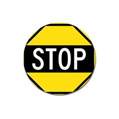 Road Sign Stop Magnet 3  (round) by Alisyart