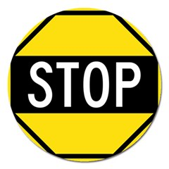 Road Sign Stop Magnet 5  (round) by Alisyart