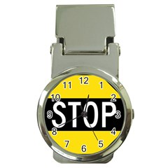 Road Sign Stop Money Clip Watches by Alisyart