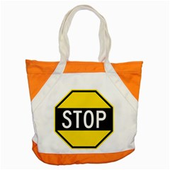 Road Sign Stop Accent Tote Bag by Alisyart