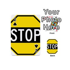Road Sign Stop Playing Cards 54 (mini)  by Alisyart
