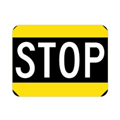 Road Sign Stop Double Sided Flano Blanket (mini)  by Alisyart