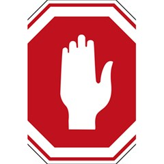 Road Sign Stop Hand Finger 5 5  X 8 5  Notebooks by Alisyart