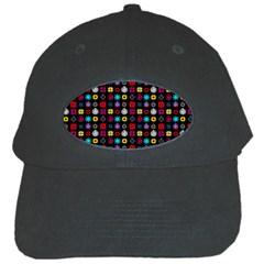 N Pattern Holiday Gift Star Snow Black Cap by Alisyart