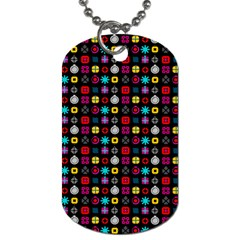 N Pattern Holiday Gift Star Snow Dog Tag (one Side) by Alisyart