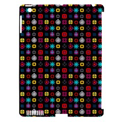 N Pattern Holiday Gift Star Snow Apple Ipad 3/4 Hardshell Case (compatible With Smart Cover) by Alisyart