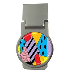 Sally s Patchwork Pattern Money Clips (round)  by Alisyart