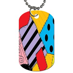 Sally s Patchwork Pattern Dog Tag (two Sides) by Alisyart