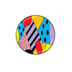 Sally s Patchwork Pattern Hat Clip Ball Marker (4 Pack) by Alisyart