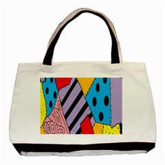 Sally s Patchwork Pattern Basic Tote Bag by Alisyart