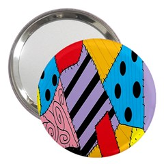 Sally s Patchwork Pattern 3  Handbag Mirrors by Alisyart