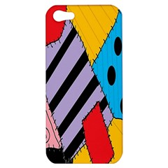 Sally s Patchwork Pattern Apple Iphone 5 Hardshell Case by Alisyart
