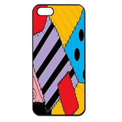 Sally s Patchwork Pattern Apple Iphone 5 Seamless Case (black) by Alisyart