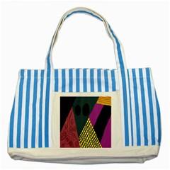 Sally Skellington Fabric Striped Blue Tote Bag by Alisyart