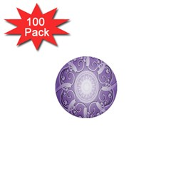 Purple Background With Artwork 1  Mini Magnets (100 Pack)  by Alisyart