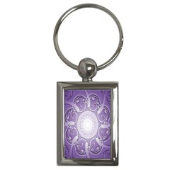 Purple Background With Artwork Key Chains (rectangle)  by Alisyart
