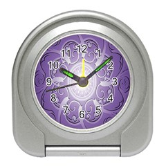 Purple Background With Artwork Travel Alarm Clocks by Alisyart
