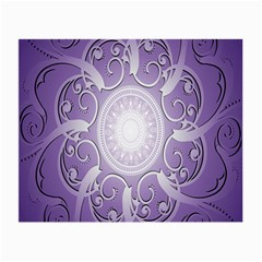 Purple Background With Artwork Small Glasses Cloth (2 Side) by Alisyart