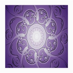 Purple Background With Artwork Medium Glasses Cloth (2 Side) by Alisyart