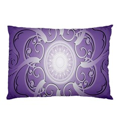 Purple Background With Artwork Pillow Case by Alisyart