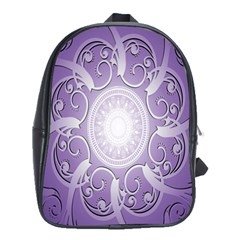 Purple Background With Artwork School Bags(large)  by Alisyart