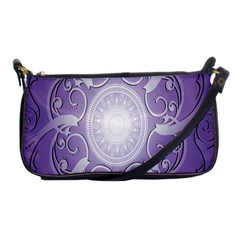 Purple Background With Artwork Shoulder Clutch Bags by Alisyart