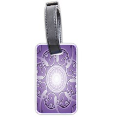 Purple Background With Artwork Luggage Tags (one Side)  by Alisyart