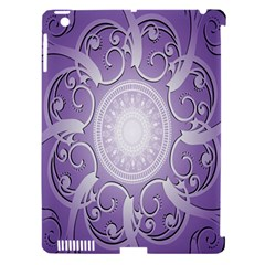 Purple Background With Artwork Apple Ipad 3/4 Hardshell Case (compatible With Smart Cover) by Alisyart