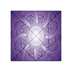 Purple Background With Artwork Acrylic Tangram Puzzle (4  X 4 ) by Alisyart