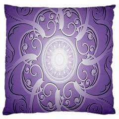 Purple Background With Artwork Large Cushion Case (two Sides) by Alisyart