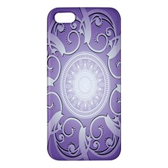Purple Background With Artwork Apple Iphone 5 Premium Hardshell Case by Alisyart