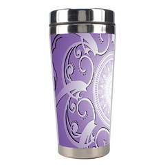 Purple Background With Artwork Stainless Steel Travel Tumblers by Alisyart