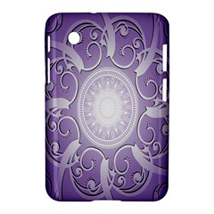 Purple Background With Artwork Samsung Galaxy Tab 2 (7 ) P3100 Hardshell Case  by Alisyart