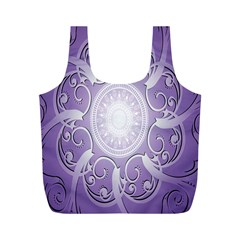 Purple Background With Artwork Full Print Recycle Bags (m)  by Alisyart