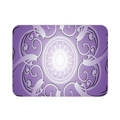 Purple Background With Artwork Double Sided Flano Blanket (mini)  by Alisyart
