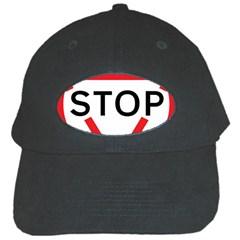 Stop Sign Black Cap by Alisyart