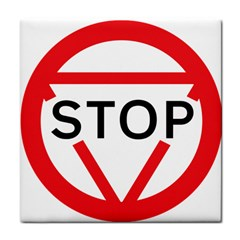 Stop Sign Tile Coasters by Alisyart